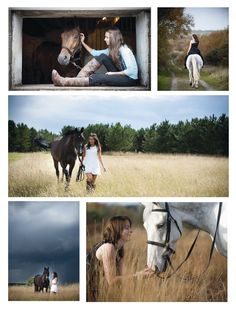 Photo shoot idea - love the idea of white dress with brown paddock boots. Would complement Jasper's grey.