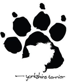 Paw Print Yorkshire terrier...cut out a bulldog