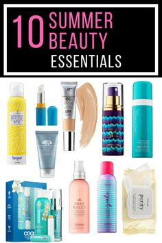 10 Summer Beauty Essentials for Summer 2017. You'll want these must-haves in your beach bag, purse or makeup bag. Many of these are available in travel sizes making them perfect for the girl on the go. Whether you're trekking cross country, doing some sightseeing, or parking your booty at a beach, I have the essential you'll need. They'll help protect you from the sun and keep you looking like your glamorous self.