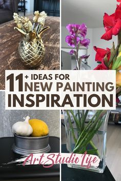 Learn how to get painting inspiration for what to paint next when you feel stuck. Plus get inspired with 11+ creative painting ideas, make it easy to start! Sometimes you just need a few simple ideas for painting, along with a process of how to think about new painting ideas so you don't get stuck as much in the future.