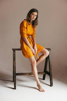 for her Bridesmaid dress boho dress Linen dresses summer dress Linen tunic Clothes For Summer, Dress For Summer, Summer Dresses, Summer Outfit, Spring Outfits, Fashion Designer, Designer Dresses, Style Casual, Hipster Style