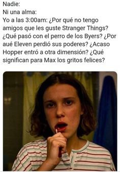 Stranger Things Fotos, Stranger Things Funny, Stranger Things Netflix, Best Memes, Funny Memes, Saints Memes, Im A Loser, Enola Holmes, Two Best Friends