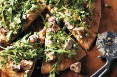 Arugula Mushroom Pizza (Serves 4)
