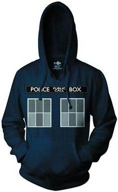 Doctor Who TARDIS costume hoodie.. Screw the costume bit, I want a Tardis hoodie