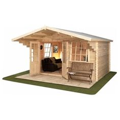 13ft x 10ft (4m x 3m) TREMBLANT Log Cabin with FREE Floor  Felt (28mm)