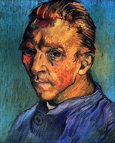 Self Portrait, 1889-Vincent van Gogh
