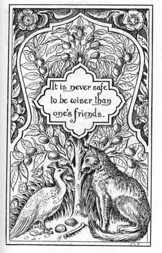 Ocean of Stories: The Jackal and the Pea-Hen, Tales of the Punjab by Flora Annie Steel, with illustrations by J. Lockwood Kipling (1894). A great story about being smart... but not too smart! Especially if you are friends with a jackal!
