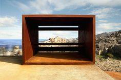 Image 5 of 22 from gallery of Tudela-Culip Restoration Project / EMF + Ardevol. Courtesy of EMF Landscape Structure, Landscape Art, Landscape Design, Architecture Art Design, Landscape Architecture, Mini Clubman, Cadaques Spain, Contemporary Garden Design, Corten Steel
