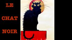 Le Chat Noir Step by Step Acrylic Painting on Canvas for Beginners
