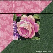 "Bilderesultater for large floral focus block quilt Attic Window Block ~ Cottage Roses Lilacs Floral Fabric ~ I simply LOVE this pattern. The color combonation is stunning! Képtalálat a következőre: ""attic window patchwork pattern"" good use for lar Quilt Block Patterns, Pattern Blocks, Quilt Blocks, Quilting Tutorials, Quilting Projects, Quilting Designs, Scrappy Quilts, Easy Quilts, Cottage Rose"