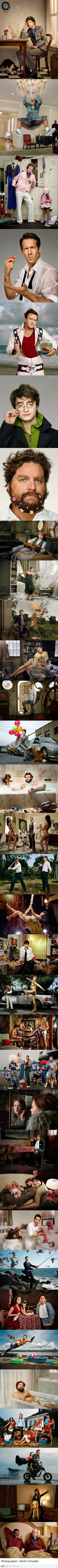 Funny celebrity pictures- Photog Martin Schoeller. Some of the best things I've ever seen