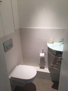 WC suspendu avec lave main - carrelage effet taloché C2villaucourt.cpm
