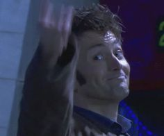 David Tennant gif :D When I first looked at that I thought he was giving the finger...