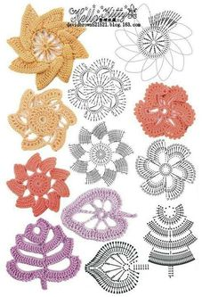 Crochet Flower Patterns Part 1 - Beautiful Crochet Patterns and Knitting Patterns Crochet Flower Patterns Part 1 Irish Crochet Patterns, Crochet Diagram, Freeform Crochet, Crochet Motif, Crochet Designs, Irish Crochet Tutorial, Crochet Pattern Free, Crochet Doilies, Crochet Stitches