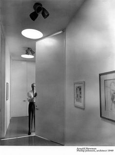 Architect Phillip Johnson by Arnold Newman in 1949