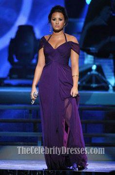 Demi Lovato Halter Prom Dress 2011 Latin Grammy Awards Celebrity Dresses