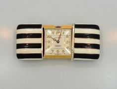 Watch Companies, Pocket Watches, Train Rides, Square Watch, Black Enamel, Vintage Watches, Vacations, Objects, Art Deco