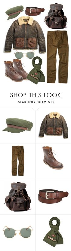 """Vintage Military Style"" by cavallienastri on Polyvore featuring Brixton, Ralph Lauren, Dr. Martens, Uniqlo, Napapijri, vintage, men's fashion e menswear"