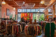 Local clothing stores offer modern and vintage style for customers - Gateway Vintage Thrift Stores, Vintage Clothing Stores, Vintage Shops, Unique Vintage, Vintage Style, Vintage Fashion, Dry Goods Clothing, Clothing Store Design, Resale Store