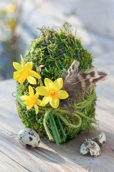 Easter decoration - The moss egg is a nice gift if you have an Easter brunch ., Easter decoration - The moss egg is a nice gift if you have an Easter brunch . Easter decoration - the moss egg is a nice gift if you egg . Diy Osterschmuck, Narcissus Flower, Deco Floral, Diy Easter Decorations, Holidays And Events, Easter Crafts, Easter Ideas, Halloween Crafts, Happy Easter