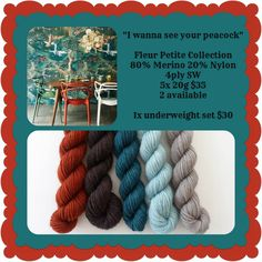 I Wanna See Your Peacock Petite Collection - Sneaky Petites | Red Riding Hood Yarns