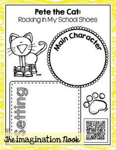 73 Cool Pete the Cat Freebies and Teaching Resources :: KindergartenWorks - Listening Center Response Sheet Literacy Activities, Teaching Resources, Teaching Ideas, Teaching Reading, Literacy Stations, Literacy Skills, Preschool Themes, Teaching Materials, Guided Reading