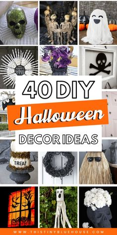 Here are 40 of the very best DIY dollar store Halloween decoration ideas. These easy projects are guaranteed to make Halloween extra spooky this year. Treatment Projects Care Design home decor Halloween Home Decor, Diy Halloween Decorations, Halloween House, Easy Halloween, Halloween Crafts, Healthy Halloween, Halloween Parties, Dollar Store Halloween, Dollar Store Crafts