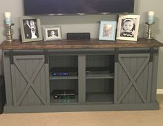 Our gorgeous custom built entertainment center from NinaV Interiors! Check them out on Facebook and Instagram!