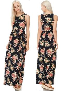 The floral maxi in Plus from abby + anna boutique is the perfect flowy summer dress!