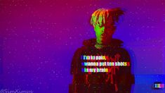 xxxTentacion wallpaper with gllitch effect and lyrics from ''Jocelyn Flores'' You can use this as a phone wallpaper too ! 1920x1080 Tell me how I did. Link : https://toptenbeautifulwallpaper.blogspot.com - Top ten Beautiufl wallpaper