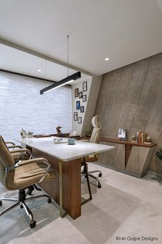 Office Counter Design, Office Cabin Design, Small Office Design, Office Furniture Design, Office Design Concepts, Design Ideas, Loft Design, Modern Office Table, Clinic Interior Design