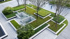Landscape Architecture, Landscape Design, Planter Beds, Floating Garden, Green Texture, Sky Garden, Shrubs, Greenery, Terrace