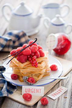 Good Morning Berry Waffles