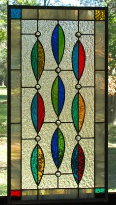 NEW Multicolored Leaf Panel with Glass Gems