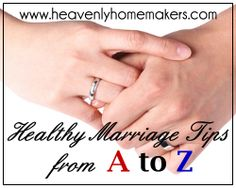 Own it.  Letter O on healthy marriage tips from A to Z from the Heavenly Homemaker Laura and her husband