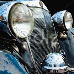 Qdiz Stock Photos | Old retro or vintage car front side,  #ancient #antique #automobile #automotive #car #classic #collection #front #glass #grill #headlamp #headlight #History #lamp #lens #lifestyles #light #nostalgia #obsolete #old #radiator #retro #side #taillight #transportation #vehicle #view #vintage