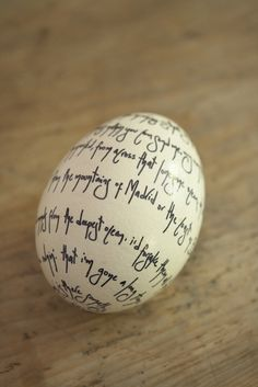 write a poem on an egg using fine point Sharpie