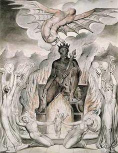 Illustration to Milton`s On the Morning of Christ`s Nativity by English artist William Blake William Blake, Baphomet, Tarot, English Poets, Romanticism, Illustrations, Gravure, Great Artists, Printmaking