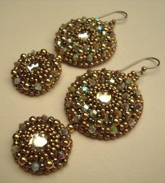 Primavera Bead Embroidery Earring Tutorial by RominaDesigns, $8.50