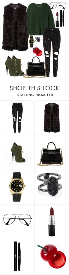 """""""Pick up the phone baby  """" by saraprifti on Polyvore featuring River Island, New Look, Dolce&Gabbana, Rolex, Kendra Scott, ZeroUV, MAC Cosmetics, Yves Saint Laurent and TONYMOLY"""