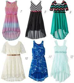 hi-low dresses for girls 7-10