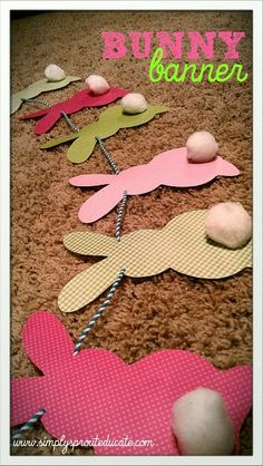 2 Girls, 1 Year, 730 Moments to Share: Spring Decor DIY Banners