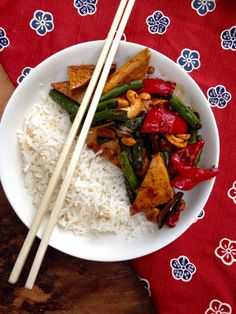 Deborah Madison's laquered tofu with green beans and cashews #vegan #recipe