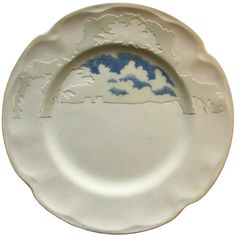 Caroline Slotte:  Reworked second hand object from the 2008 series Under Blue Skies