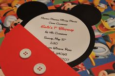 Sillyness Abounds: Mickey Mouse Invitation