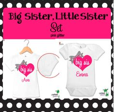 Big Sister Little Sister Outfits , Big Sister Shirt, Big Sister  Gift, Little Sister Onesie, Big Sister Little Sister Outfits by TheMonogrammedPrep on Etsy