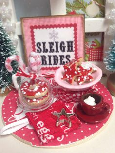 Red and White Christmas Prep Board 112 by RibbonwoodCottage, $50.00
