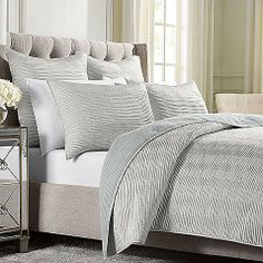 Wamsutta® Serenity Quilted Coverlet in Silver