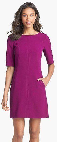 Tahari Seamed A-Line Dress (Regular & Petite Sizes) 10 Colors