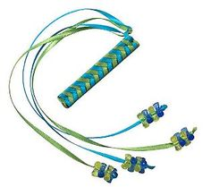 I wore these in my Dorothy Hamill haircut and flipped the ribbons over my shoulders to pretend I had long hair.